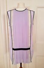 Nicole Farhi Silk Top Lilac UK 10