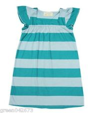 Girls Kids/Toddlers Stripe Green Sleepdress/Nightdress Sleepwear, L (5-6 y/o)