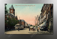 VINTAGE BLOOMSBURG PA MAIN STREET IMAGE BANNER NOS IMAGE REPRODUCTION