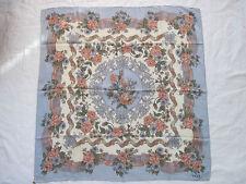 -Superbe Foulard  VOGUE  100% soie  TBEG  vintage scarf