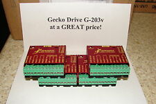 FIVE Geckodrive G-203V ONE YEAR FACTORY WARRANTY steppr motor Drivers   W/EXTRAS