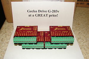 FOUR Geckodrive G-203V ONE YEAR FACTORY WARRANTY steppr motor Drivers   W/EXTRAS
