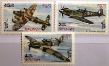 BHUTAN 1967 152-54 A 88-88B Battle over Britain WWII WKII Airplane Flugzeuge MNH