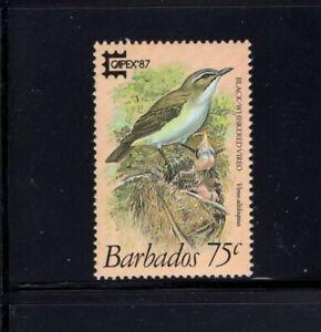 Barbados 1987 75c Black Whiskered Vireo Bird MNH SG 839