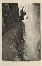 Sherlock Holmes And Moriarty Reichenbach Falls Strand 1893, 7x4 Inch Reprint