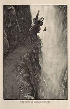 Sherlock Holmes e Moriarty Reichenbach cade Strand 1893, 7x4 pollici RISTAMPA