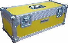 "7"" Single 300 Swan Flight Case Vinyl Record Box (Yellow Rigid PVC)"