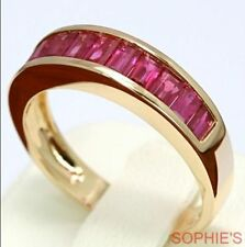 Ruby Yellow Gold 14k Wedding & Anniversary Bands