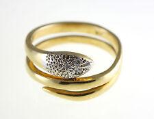 18KT YELLOW GOLD DIAMOND SNAKE RING WRAP AROUND WITH THREE DIAMONDS