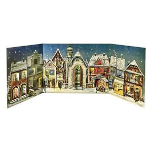 Little Town Advent Calendar  - Panoramic Christmas Count Down - Original Size