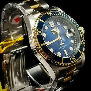 Invicta Men's Pro Diver Quartz Watch with Stainless Steel Strap, Two Tone, 22