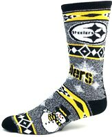 Pittsburgh Steelers NFL Ugly Holiday Snowman Sweater Crew Socks