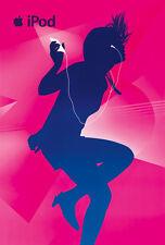 Original Vintage Poster iPod Apple Mac Music Dance Party 2008 Digital Billboard