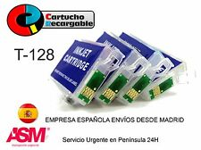 T128 Cartuchos recargables compatible Serie T128 MARGARITA tipo Epso-n Non Oem