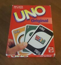 Vintage 1999 Original UNO Card Game By Mattel Complete + Instructions