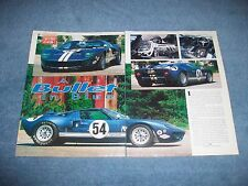 "1966 Ford GT-40 MK-1 Street Version Vintage Article ""A Bullet in Blue"""