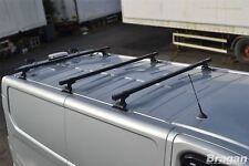 RENAULT Trafic 2002 - 2014 nero in acciaio tetto rack rotaie x3 + si ferma carico