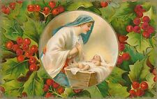 CHRISTMAS – Madonna and Baby In Crib Holy Happy Christmas – udb - 1907