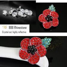 Flower Enamel Badges Pin Brooches Crystal Metal 2020 Red Corn Rose Broach