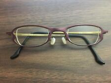 Anne et Valentin Womens Eyeglasses Frames Thais Purple Gold Titanium Light Japan