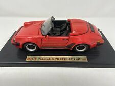 Maisto Special Edition 1:18 Scale 1989 Porsche 911 Speedster Red Die Cast Metal