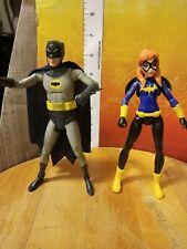 2015 Mattel DC Super Hero Girls Batgirl and classic Batman figure lot.