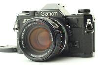 [Exc+5] Canon AE-1 Black 35mm SLR Film Camera FD 50mm F1.4 SSC S.S.C. Lens JAPAN