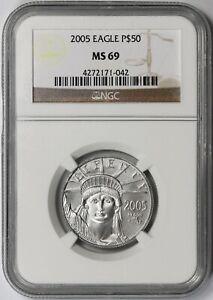 2005 Statue of Liberty Half-Ounce Platinum American Eagle $50 MS 69 NGC 1/2 oz