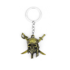 Metall Schlüsselanhänger Piraten der Karibik 2 Stücke