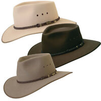 Akubra Genuine Cattleman Traditional Australian Made Bush Cowboy Hat Size 51-65c