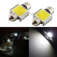 2pcs Error Free Hi-Power White 31mm COB LED Festoon Bulbs For Car Dome Map Light