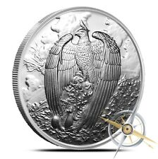 1~OZ .999 SILVER PROOF GEM~ NORDIC CREATURES ~ GREAT EAGLE ~ NUMBERED~COA~$49.88