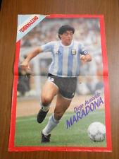 MARADONA POSTER DEL IL GIORNALINO 1986