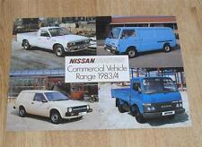 Datsun Nissan Commercial Brochure 1983 - Pick Up E23 Urvan Cabstar Sunny Van