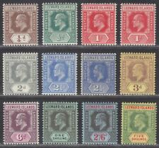 Leeward Islands 1907-11 King Edward VII Set Mint SG36-45 cat £130