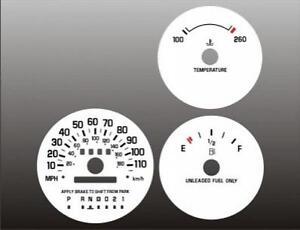 1995-1999 Monte Carlo Lumina Dash Cluster White Face Gauges 95-99
