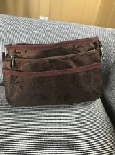 Travel Accessories Bag Brown Insert Organize Compartment Tidy Purse Space Saver