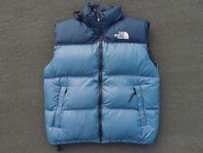 Vintage North Face Nuptse 700 Down Vest Mens Size XL Two Tone Light Blue Hiking