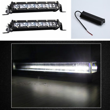 "2pcs 8""inch 120W Slim LED Work Light Bar SPOT Driving Truck Offroad Single Row"