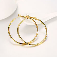 Wholesale 18k Gold Filled High Polished Fashion Big Circle Hoop Earrings