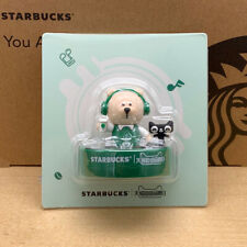 Starbucks 2019 China Green Apron DJ Bear Stamp Toy
