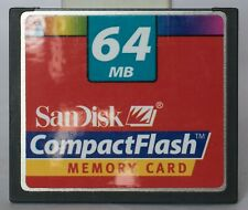 Sandisk 64MB compact flash card.