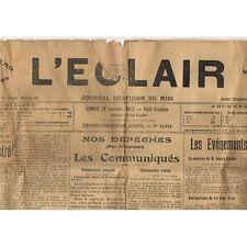 L'ÉCLAIR 13-11-1915 MOUSSAC et UZÈS Foire aux Poulains  Paul PUECH de Montdardie