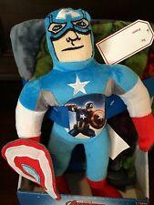 Marvel Captain America Character Pillow & Throw Set NWT New Blanket Avengers