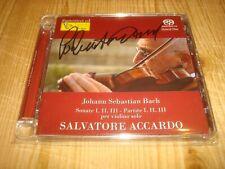 SALVATORE ACCARDO Bach Solo Violin Partitas & Sonatas FONE 2SACD Signed Signiert