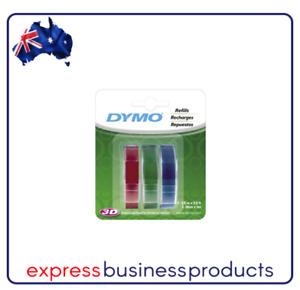 Dymo Embossing Tape Red Blue Green 9mmx3m - DMSD1741671