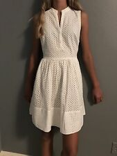 NEW Banana Republic Diamond Dress Color White Size 2P Retail $119