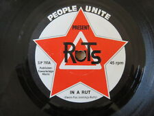 "RUTS In A Rut PEOPLE UNITE 7"" RARE ORIGINAL BLACK RING 1ST UK PRESSING SJP795"