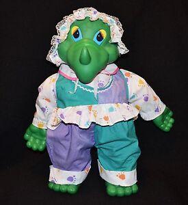 Vintage Uneeda Baby Dinosaur Rare Item 90's 48cm