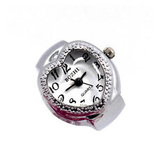 Creative Women Lady Heart Polka Dot Adjustable Ring Finger Quartz Watch Gift